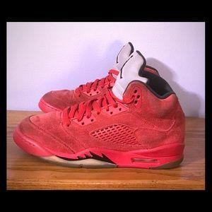 Air Jordan 5 Retro BG Red Suede